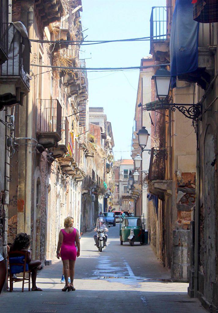Il quartiere si San Berillo. Catania
